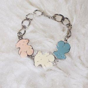 Pastel Teddy Bear Bracelet